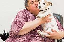 Alexandra and Otis (dog)