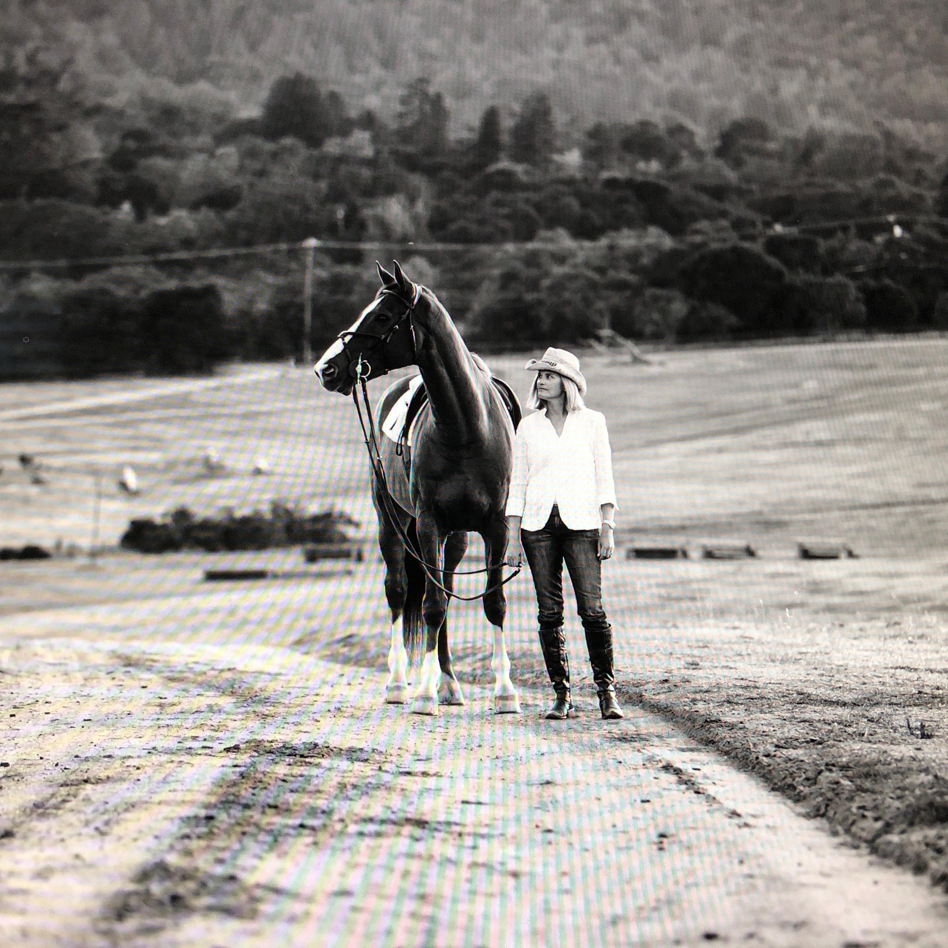 Shanti Supporter Kristin Crosland at Woodside Horse Park
