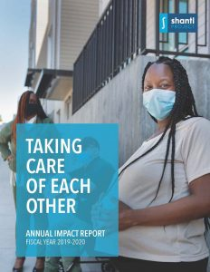 Cover of Shanti Project's 2019-20 Impact Report