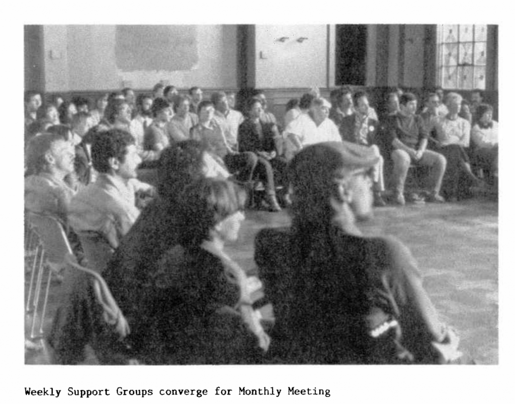 Shanti volunteer support group 1983