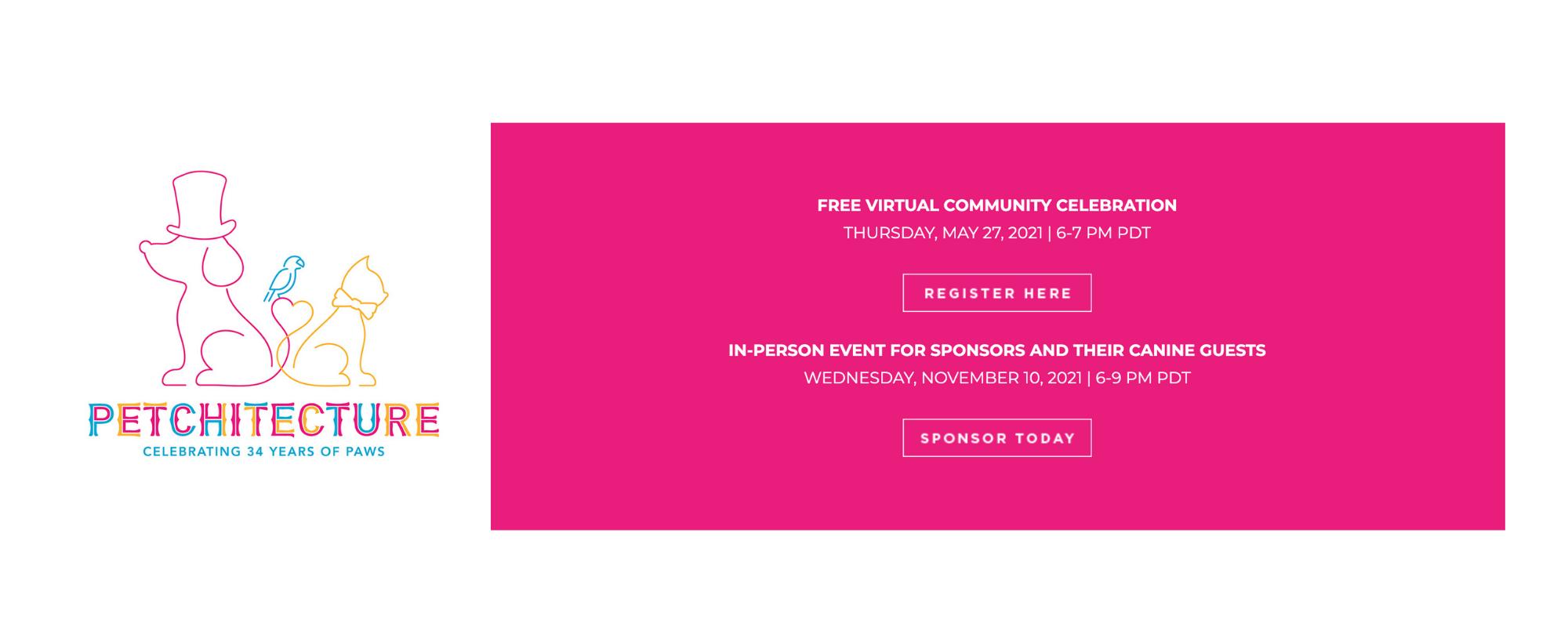 Petchitecture logo. Free Virtual Community Celebration